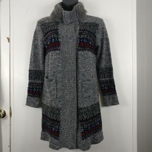 UMGEE Gray Long Cardigan With Pockets Size Medium